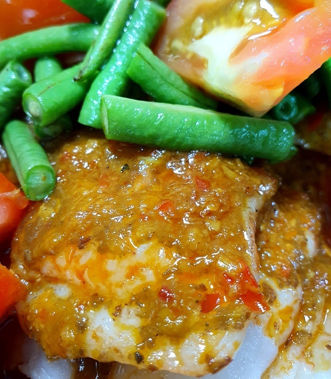 Steamed Fish Fillet with Assam Paste